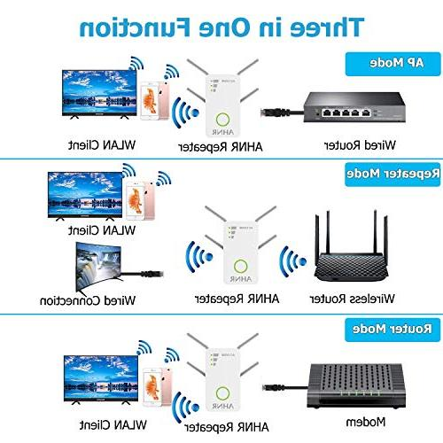 WiFi Signal Wireless WiFi Repeater AC1200 Dual Up to 1200 External Supports Router Mode/Repeater/Access