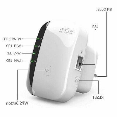 Wireless WiFi Extender 300Mbps Signal Booster
