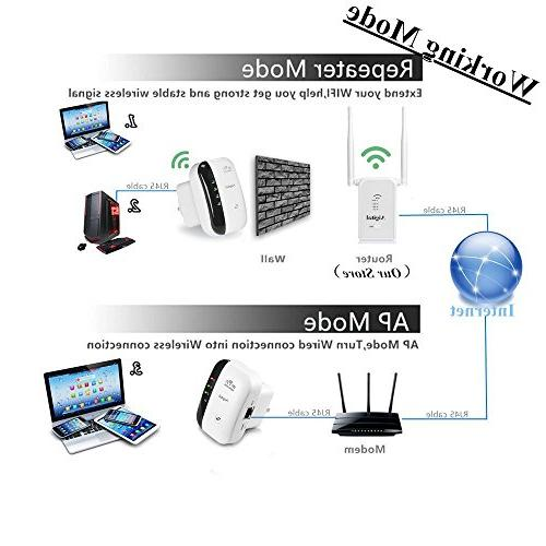WiFi Wireless Internet Booster Easily Set Up Repeater/Access Point WiFi to Home & Alexa