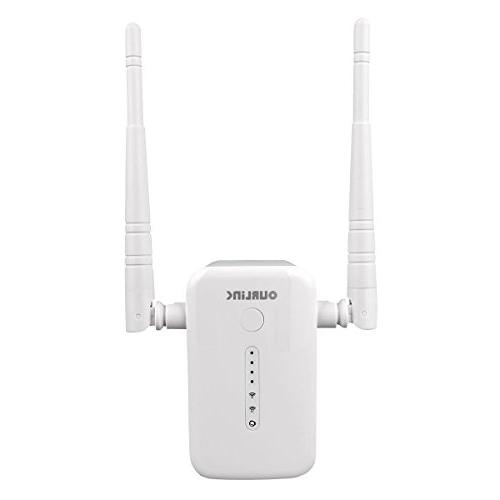 OURLiNK AC1200 1200Mbps Wireless Repeater Range Hotspot Access Point Signal Amplifier Adapter with WPS, WiFi to Home