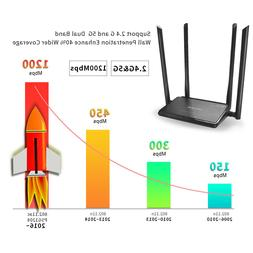 AC1200 Dual Band High Power Wireless Router&Designed 4 anten