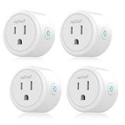 Smart Plug TanTan WiFi Enabled Mini Socket - 4 Packs, Timer