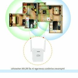 White WiFi Range Extender 300Mbps WiFi AP/Repeater Dual Ante
