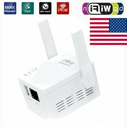 White WiFi Range Extender Wireless 300Mbps AP/Repeater Dual
