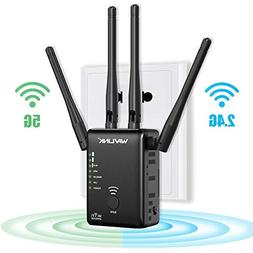 WiFi Extender 1200Mbps WiFi Repeater for 2.4G and 5G Dual Ba