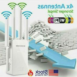 WiFi Extender Signal Range Booster Wireless 300Mbps Dual Ban