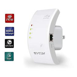 300Mbps WiFi Extender, Range Booster, 2 in 1 Repeater/Wirele