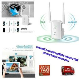 WiFi Extender 300Mbps Wireless Repeater Long Range Signal Bo