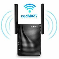 ROCK SPACE 750Mbps Wireless Signal Booster, 2.4 & 5GHz Dual