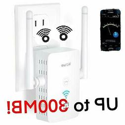WiFi Range Extender Repeater 2.4GHz 300Mbs,WPS&One-Click Set