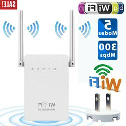 Wifi Range Extender Wireless Signal Booster Repeater 300Mbps