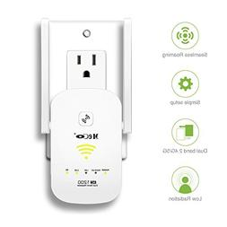 WiFi Range Extender, MECO 1200Mbps WiFi Repeater Dual Band 2